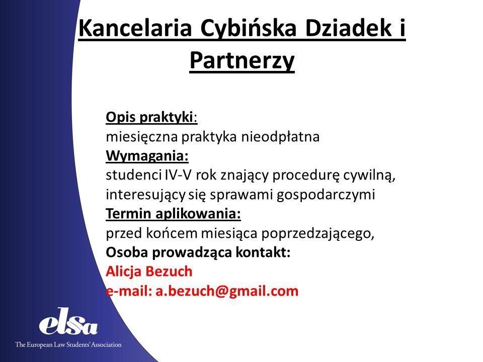 Kancelaria Cybińska Dziadek i Partnerzy