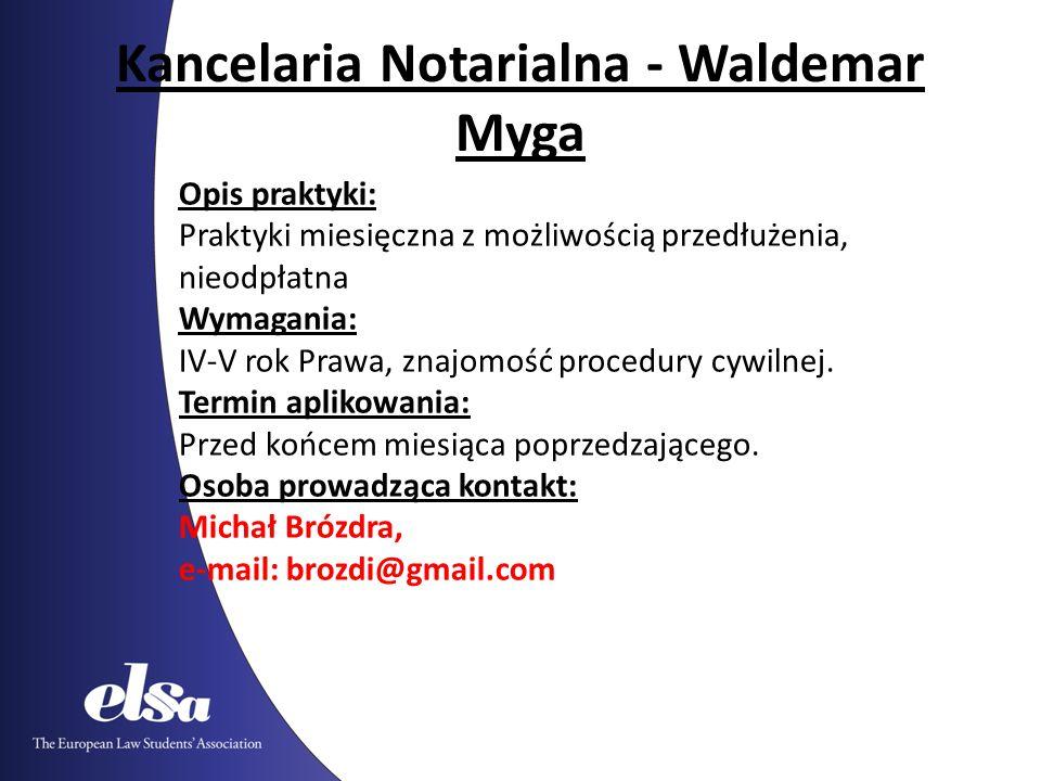 Kancelaria Notarialna - Waldemar Myga
