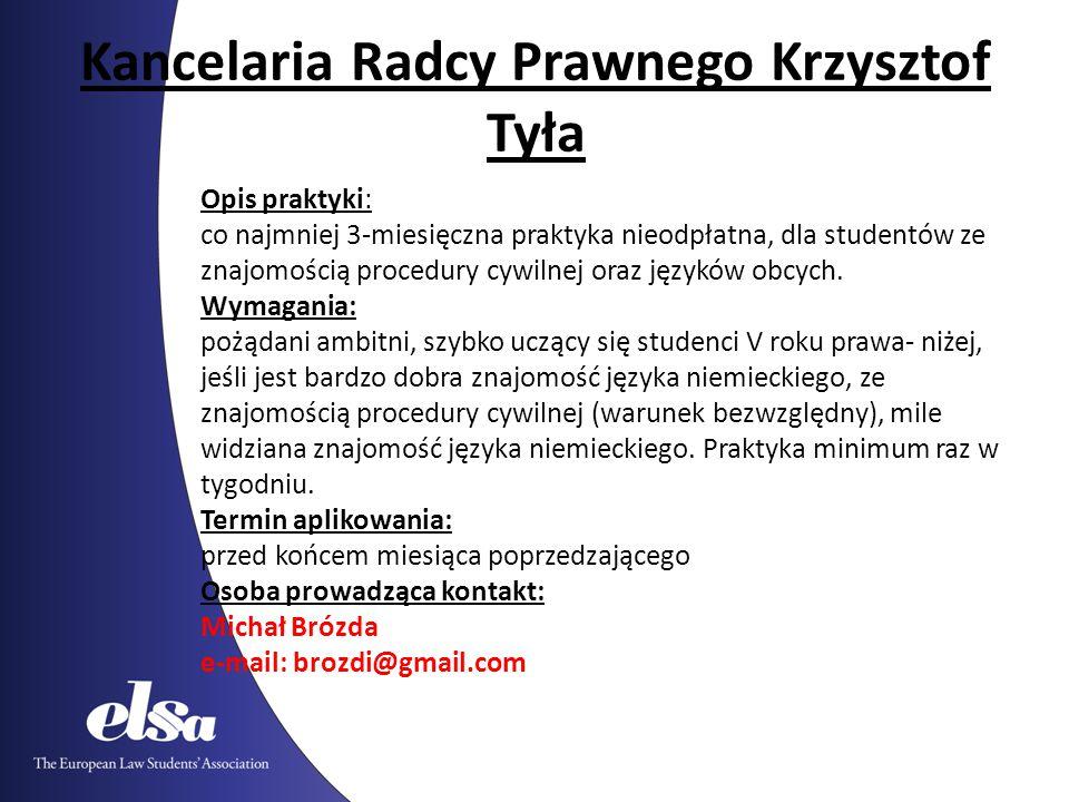 Kancelaria Radcy Prawnego Krzysztof Tyła