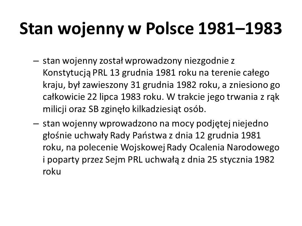 Stan wojenny w Polsce 1981–1983