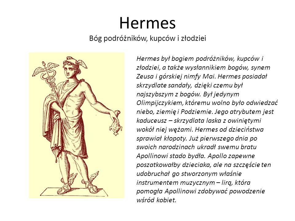 Hermes Bóg podróżników, kupców i złodziei