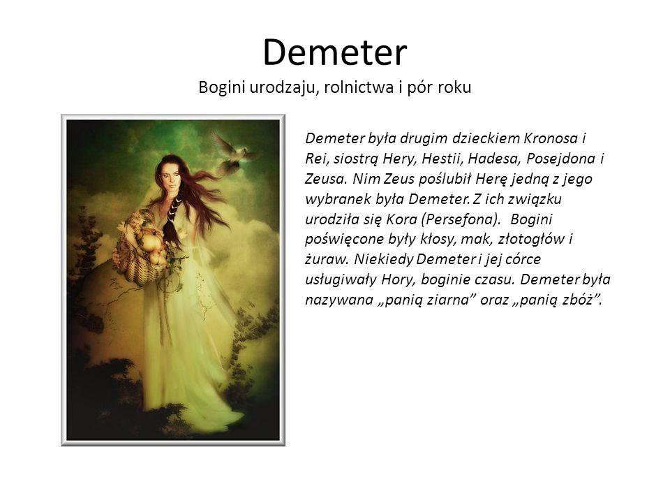 Demeter Bogini urodzaju, rolnictwa i pór roku