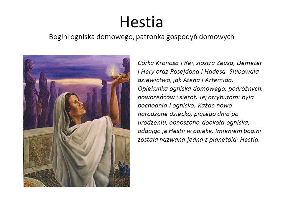 Hestia Bogini ogniska domowego, patronka gospodyń domowych