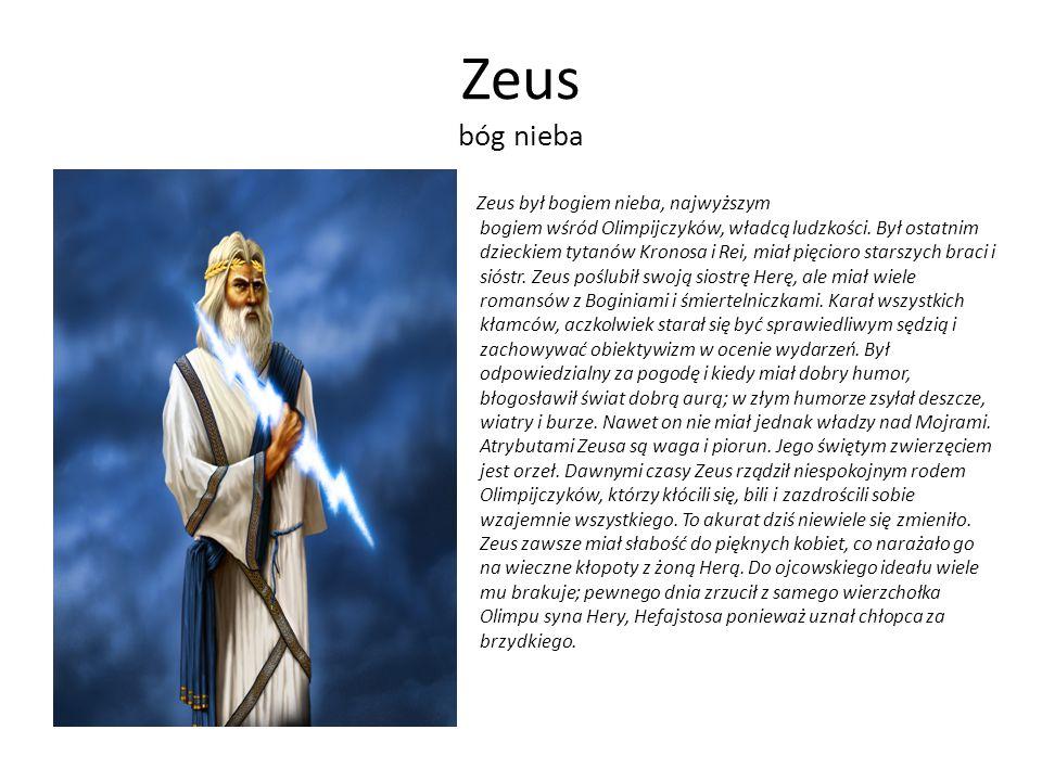 Zeus bóg nieba
