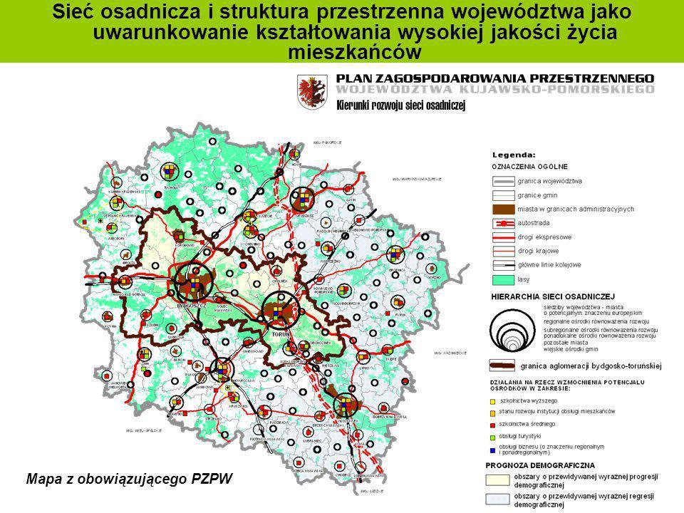 Sieć osadnicza i struktura przestrzenna województwa jako uwarunkowanie kształtowania wysokiej jakości życia mieszkańców