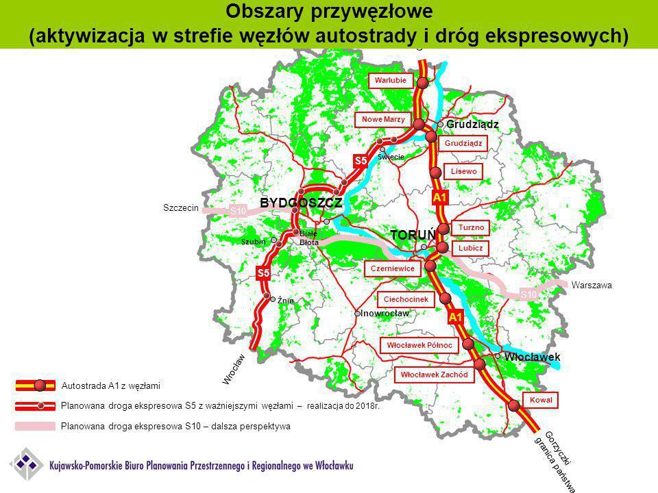 (aktywizacja w strefie węzłów autostrady i dróg ekspresowych)