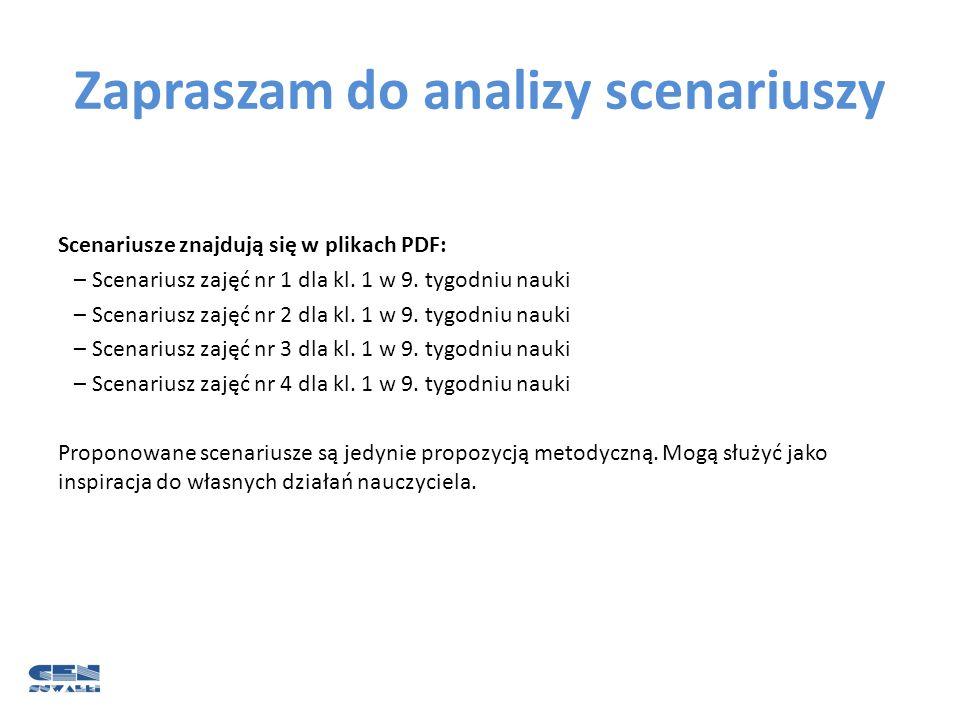 Zapraszam do analizy scenariuszy