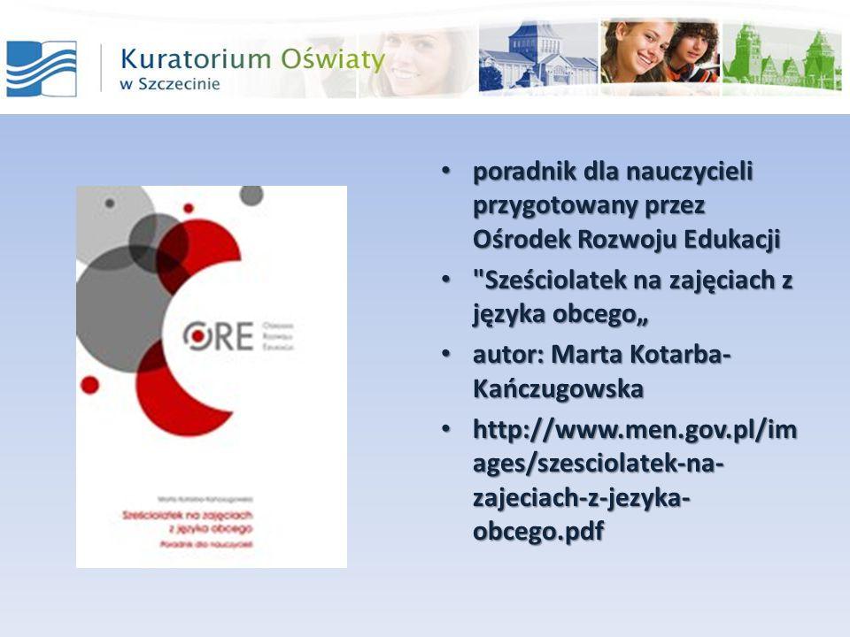 poradnik dla nauczycieli przygotowany przez Ośrodek Rozwoju Edukacji