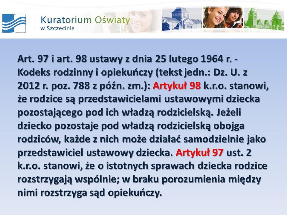 Art. 97 i art. 98 ustawy z dnia 25 lutego 1964 r
