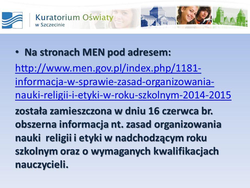 Na stronach MEN pod adresem: