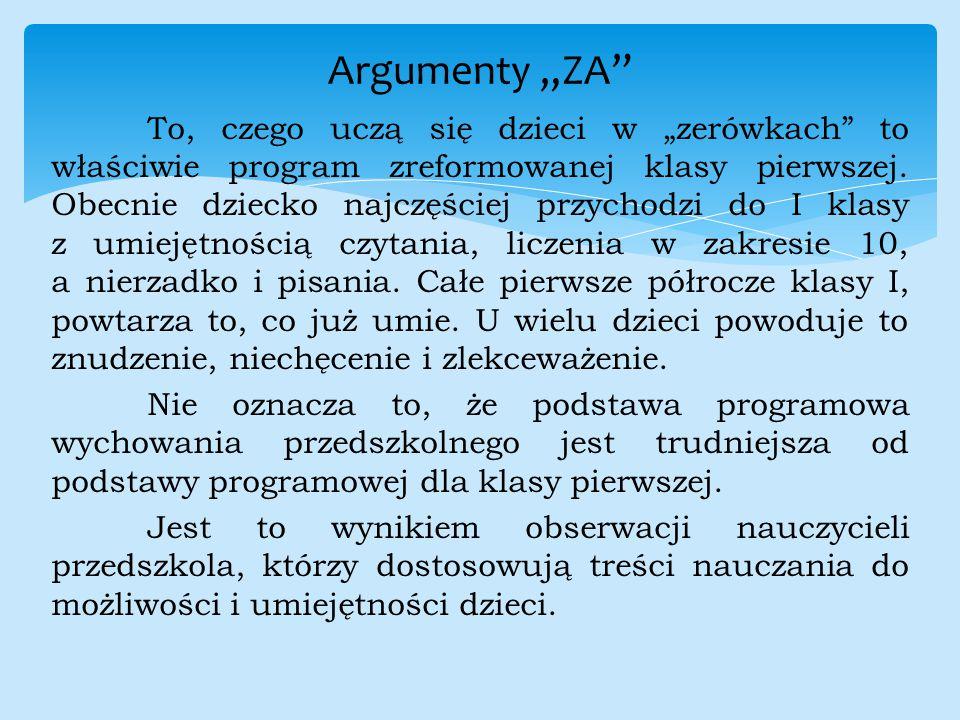 "Argumenty ""ZA"
