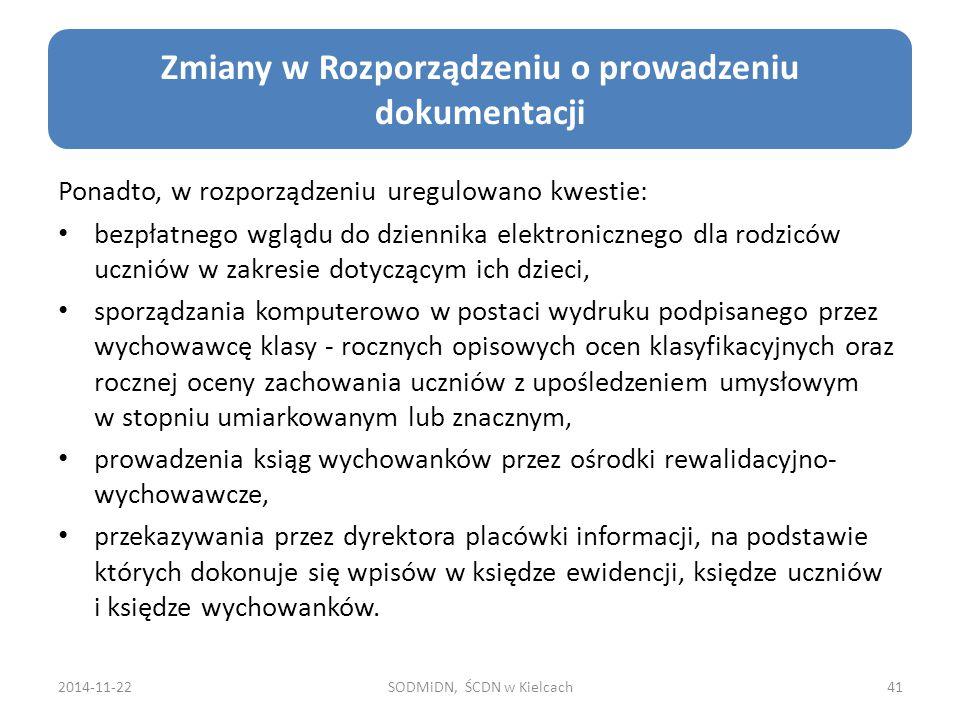 Zmiany w Rozporządzeniu o prowadzeniu dokumentacji