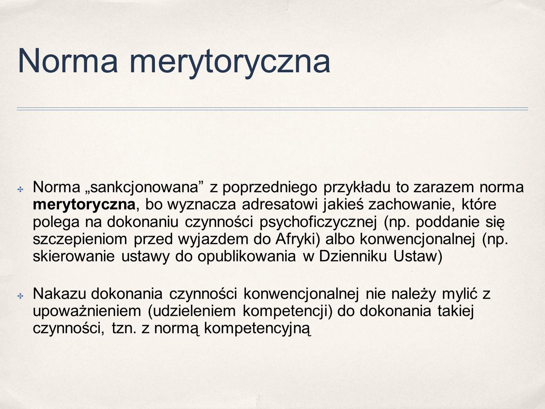 Norma merytoryczna