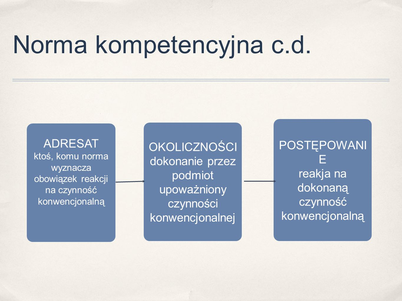 Norma kompetencyjna c.d.