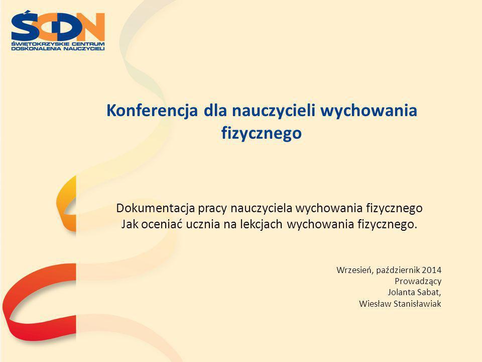 Konferencja dla nauczycieli wychowania fizycznego