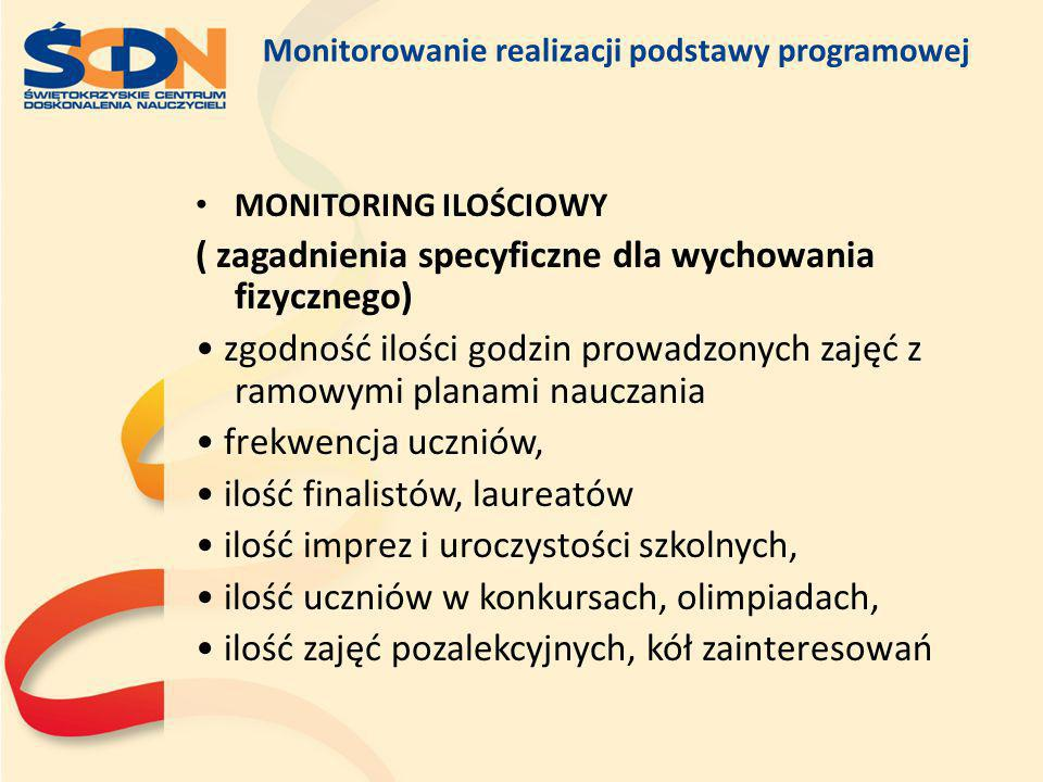 Monitorowanie realizacji podstawy programowej