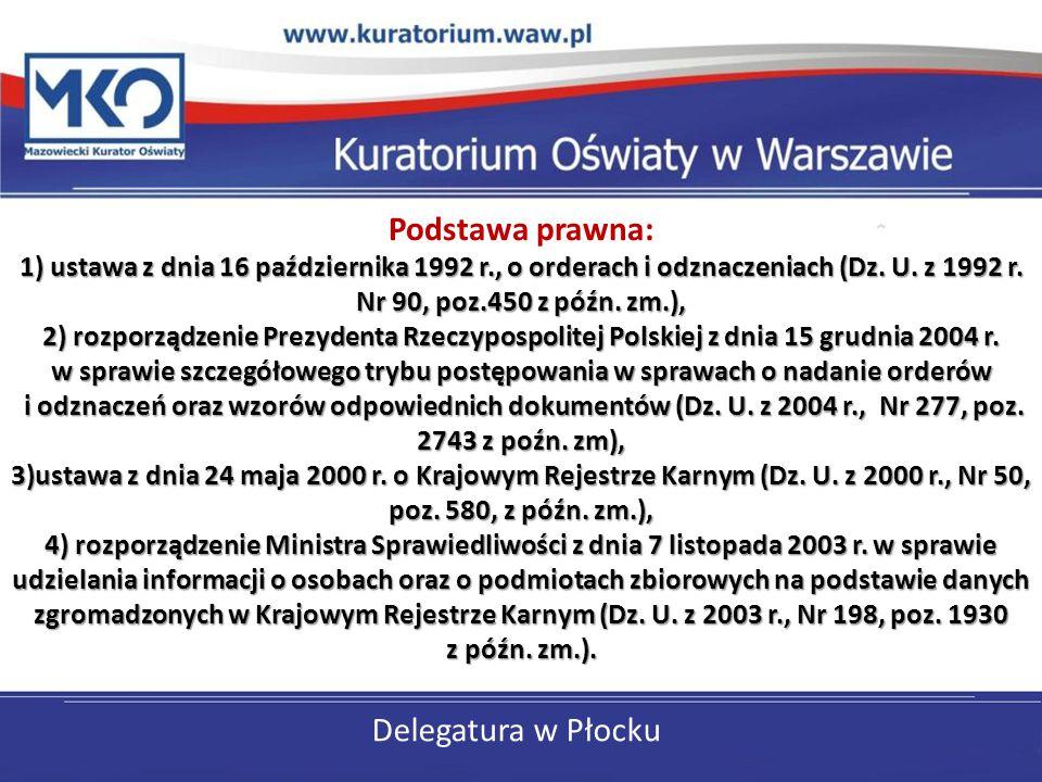 Podstawa prawna: 1) ustawa z dnia 16 października 1992 r