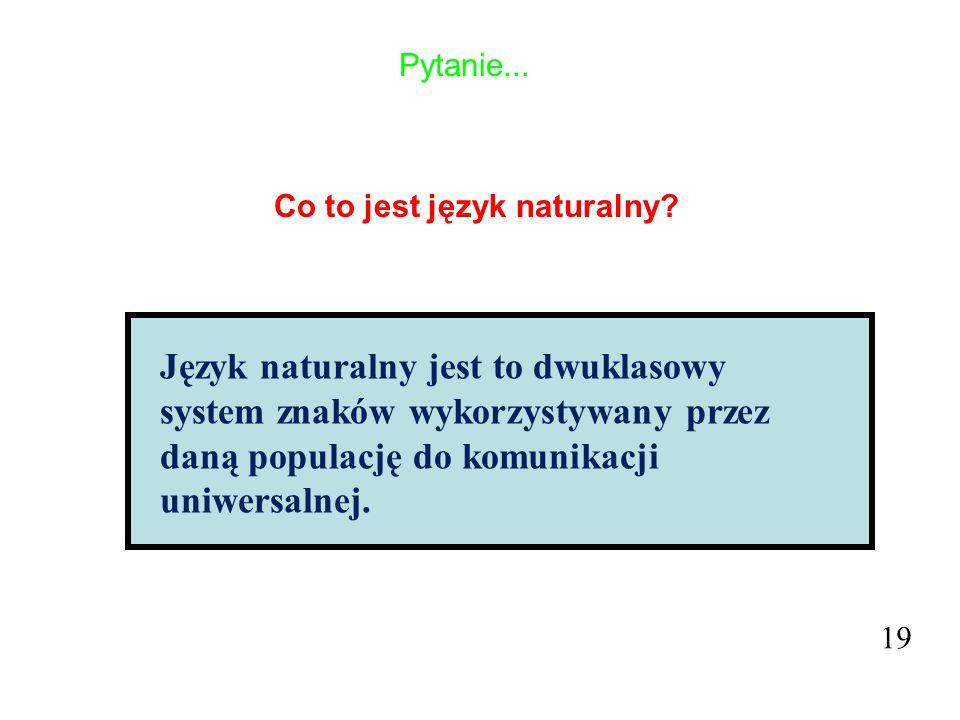 Co to jest język naturalny