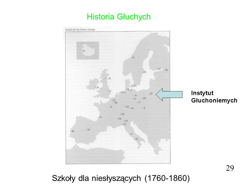 Szkoły dla niesłyszących (1760-1860)