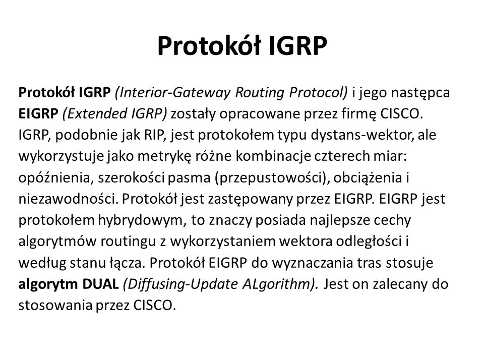 Protokół IGRP