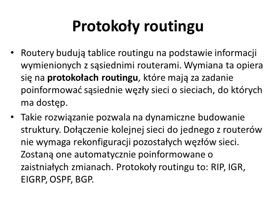 Protokoły routingu