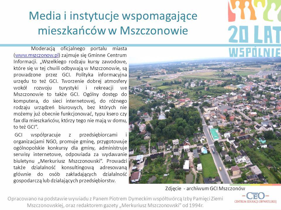 Media i instytucje wspomagające mieszkańców w Mszczonowie