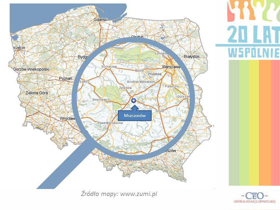 Źródło mapy: www.zumi.pl