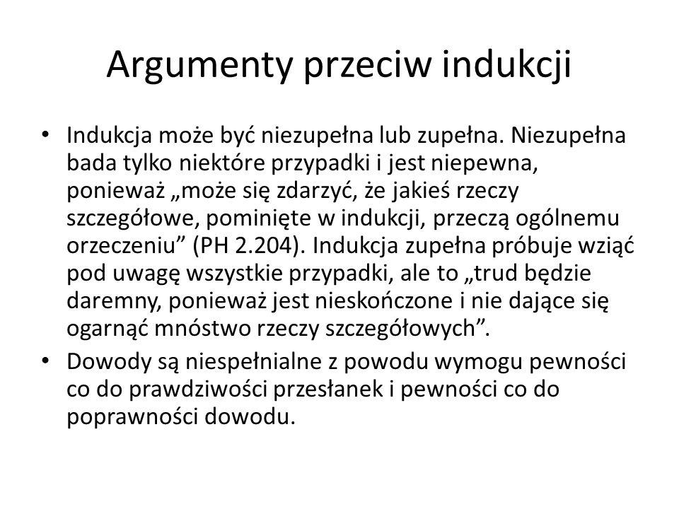 Argumenty przeciw indukcji