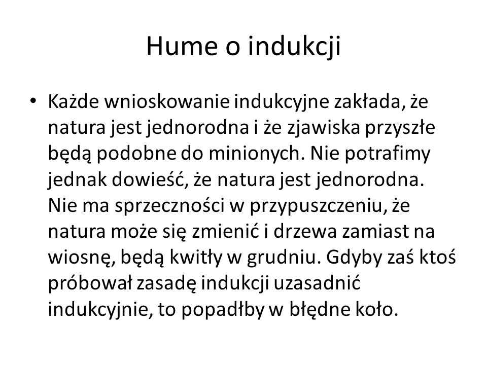 Hume o indukcji