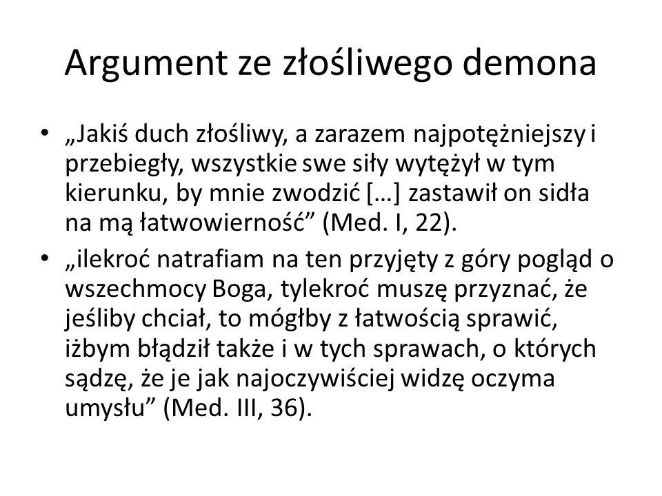 Argument ze złośliwego demona