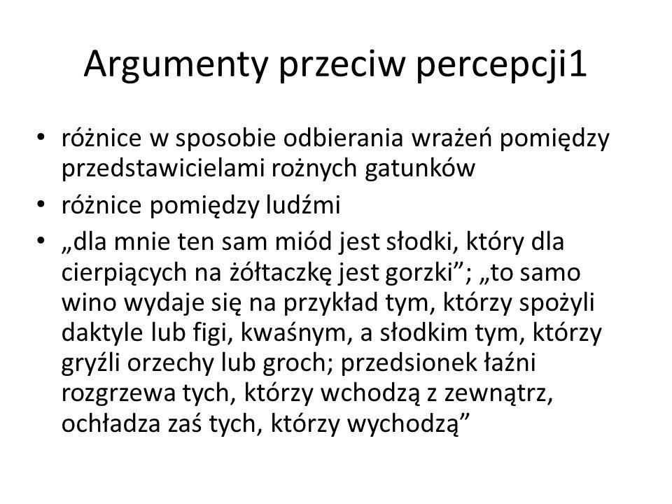 Argumenty przeciw percepcji1