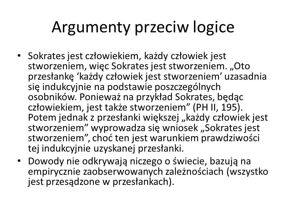 Argumenty przeciw logice