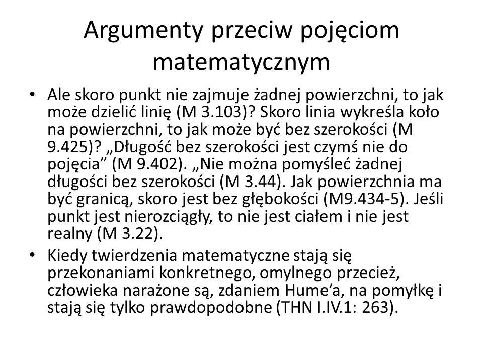 Argumenty przeciw pojęciom matematycznym