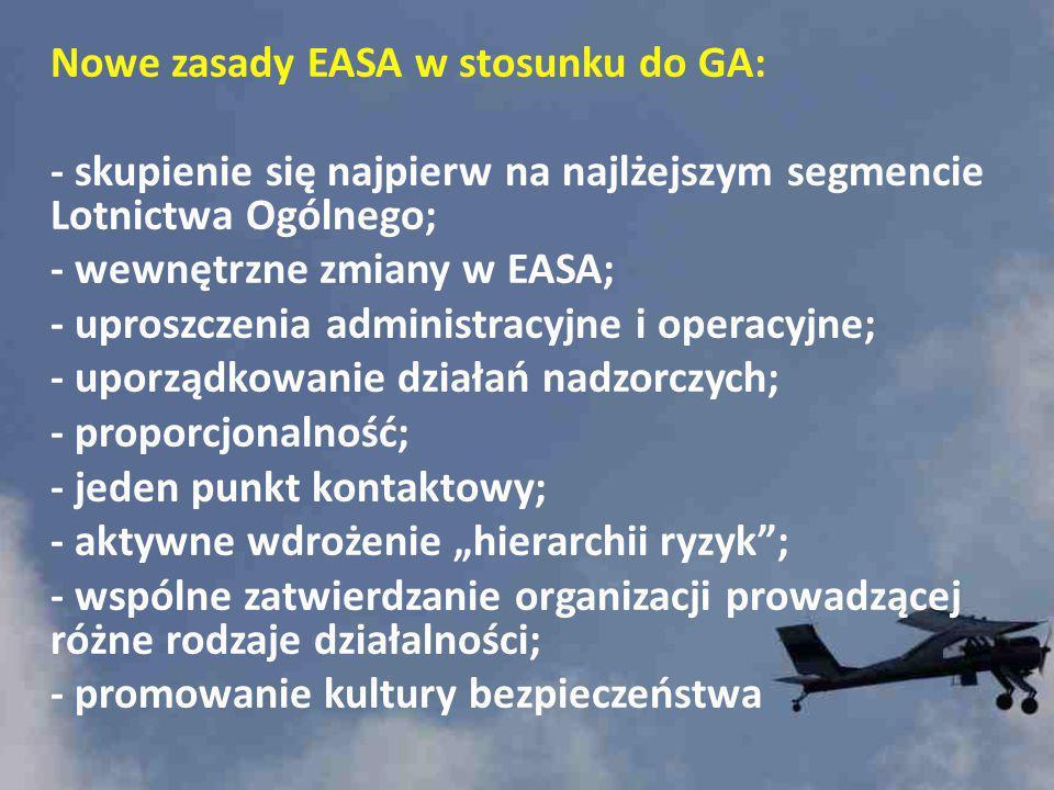 Nowe zasady EASA w stosunku do GA:
