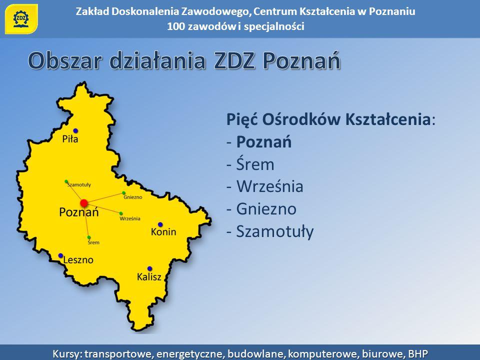 Obszar działania ZDZ Poznań
