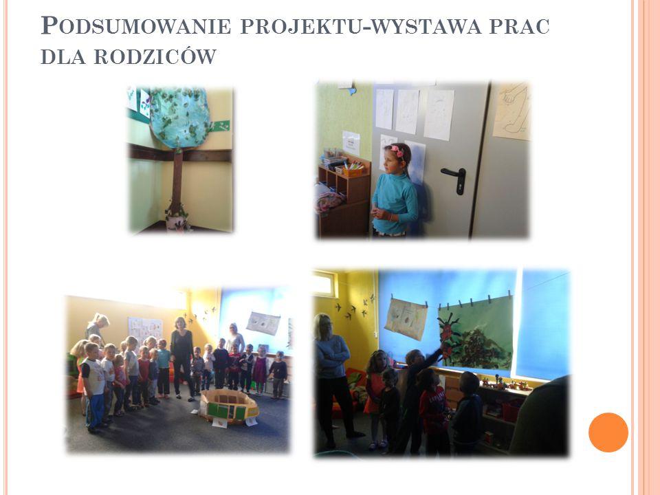 Podsumowanie projektu-wystawa prac dla rodziców