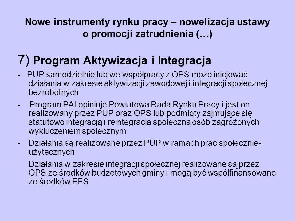 7) Program Aktywizacja i Integracja