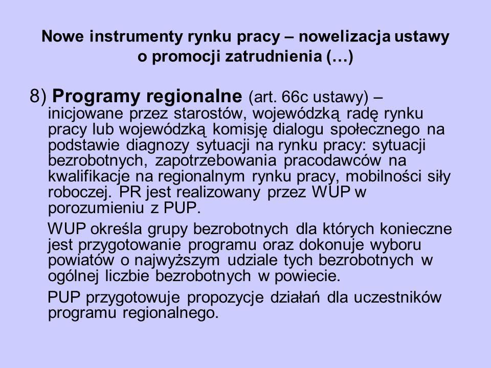 Nowe instrumenty rynku pracy – nowelizacja ustawy o promocji zatrudnienia (…)