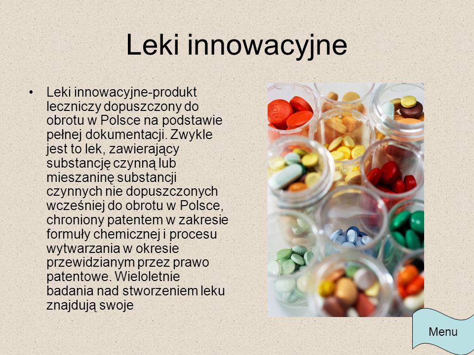 Leki innowacyjne