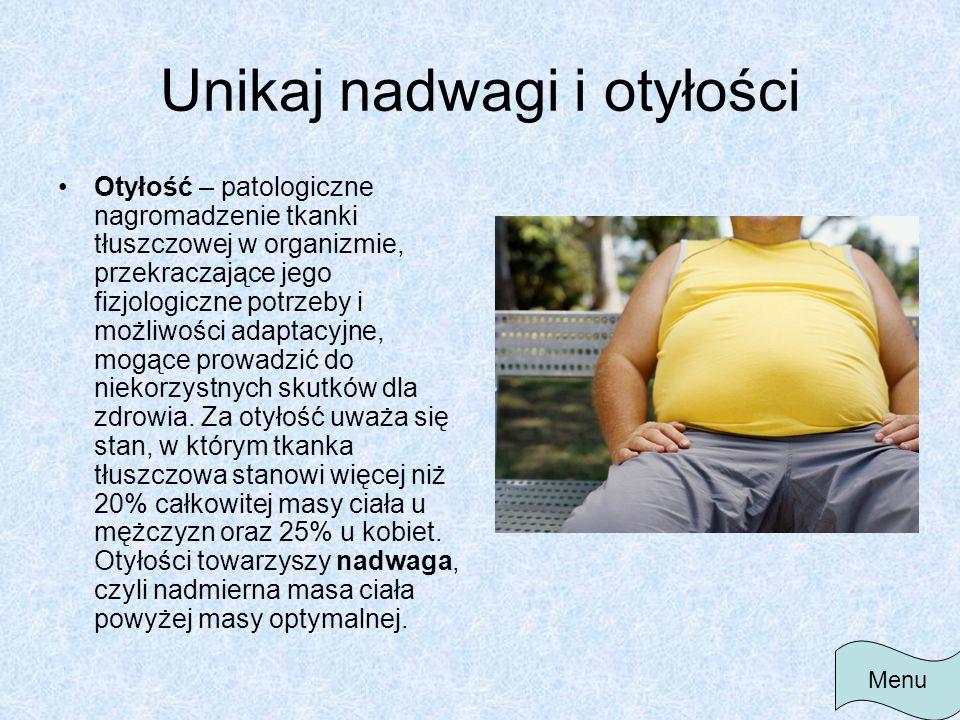 Unikaj nadwagi i otyłości
