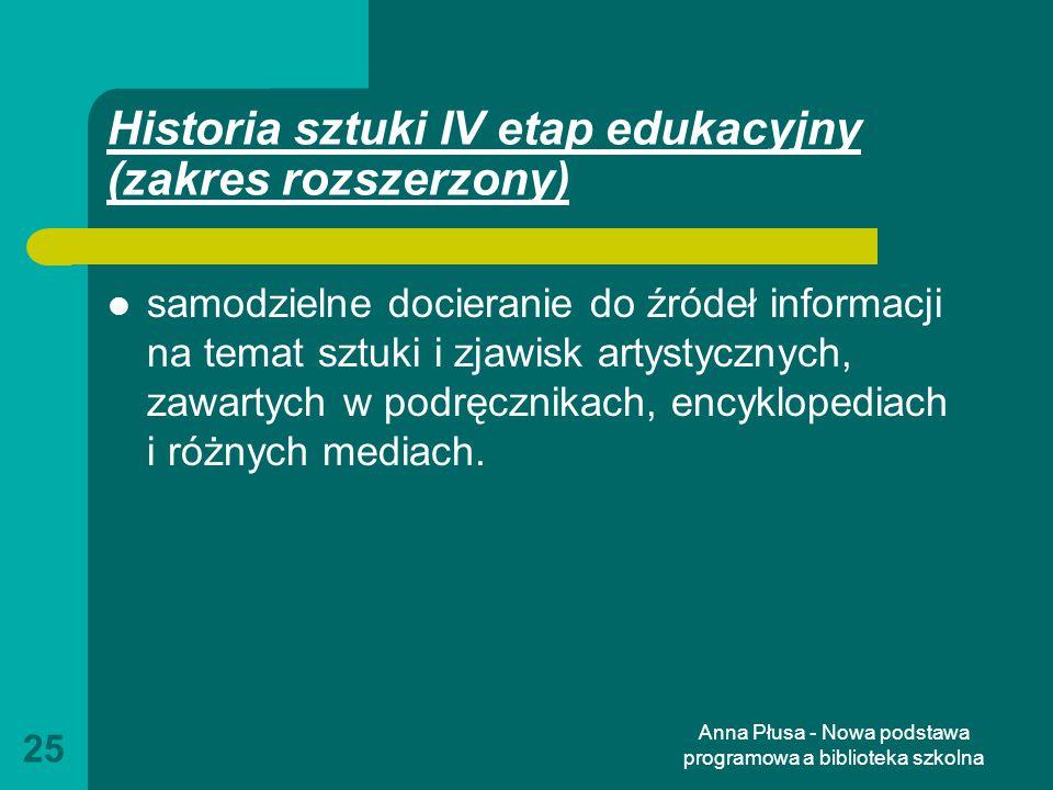 Historia sztuki IV etap edukacyjny (zakres rozszerzony)