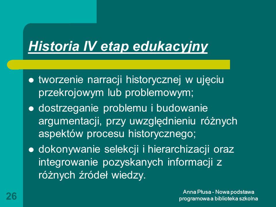 Historia IV etap edukacyjny