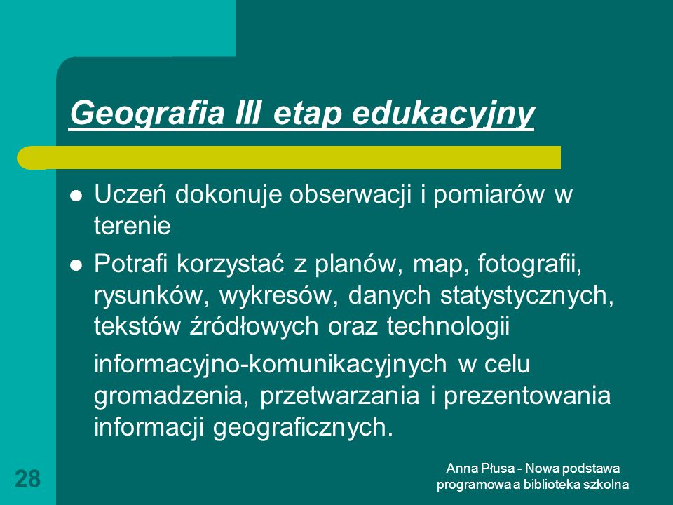 Geografia III etap edukacyjny