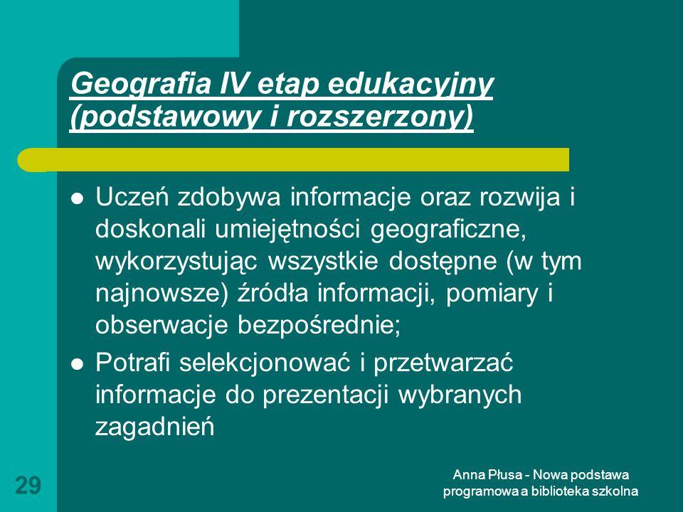 Geografia IV etap edukacyjny (podstawowy i rozszerzony)