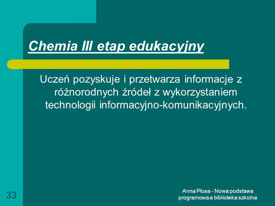 Chemia III etap edukacyjny
