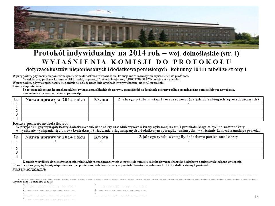 Protokół indywidualny na 2014 rok – woj. dolnośląskie (str. 4)