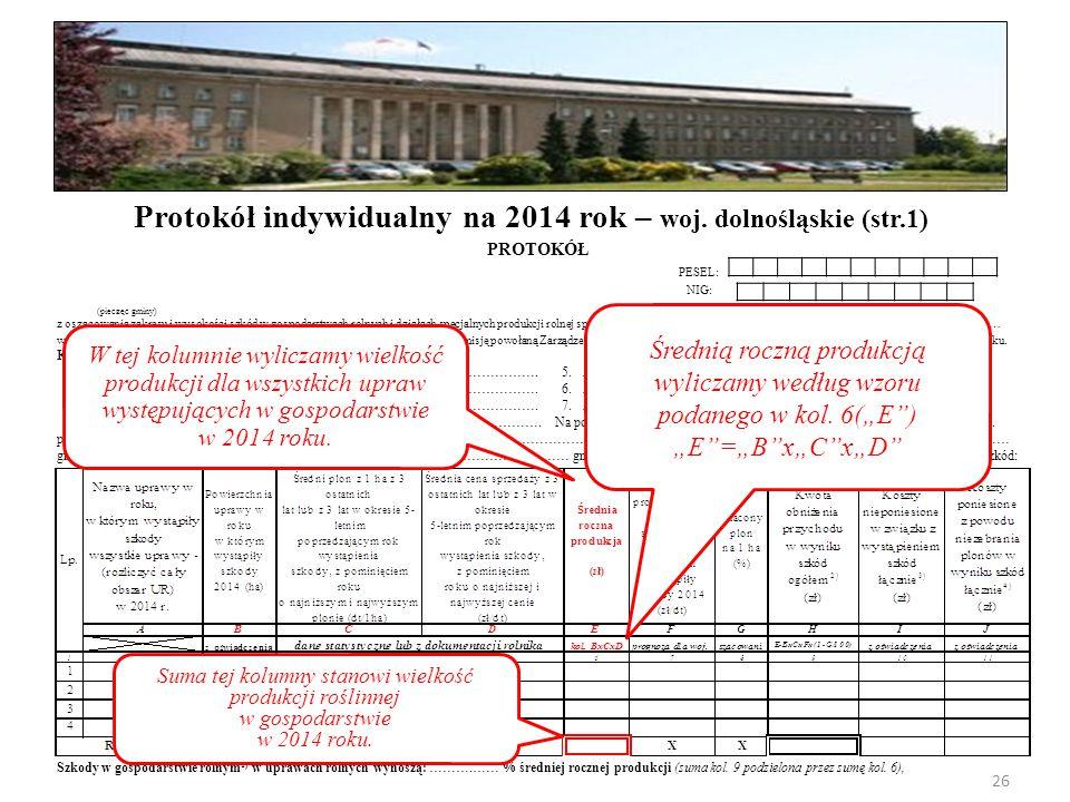 Protokół indywidualny na 2014 rok – woj. dolnośląskie (str.1)
