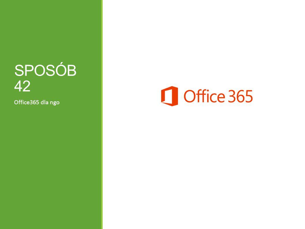 SPOSÓB 42 Office365 dla ngo