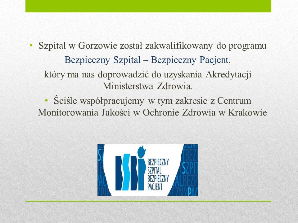 Szpital w Gorzowie został zakwalifikowany do programu