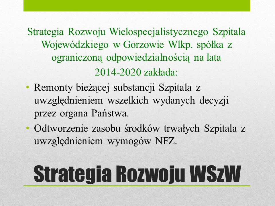 Strategia Rozwoju WSzW